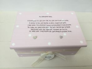 Shabby Personalised Chic Jewellery Box Christening Gift Baptism Goddaughter